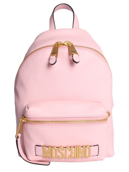 Moschino - Leather Backpack With Logo