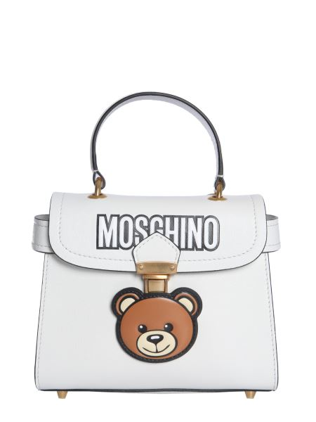 Moschino - Hidden Lock Bag In Leather With Teddy Bear