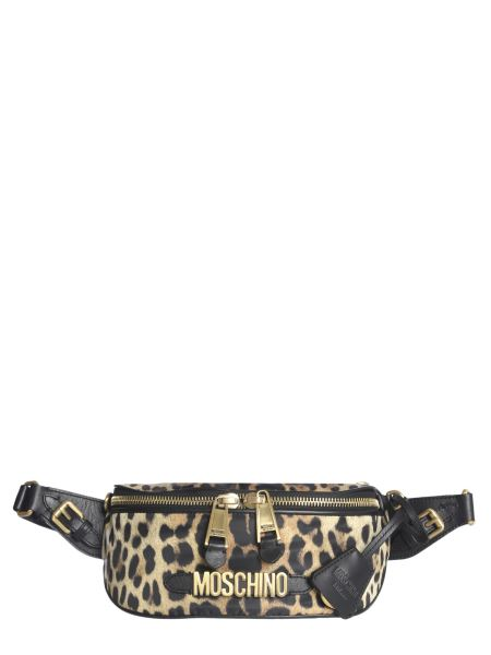 Moschino - Nylon Pouch With Leopard Print