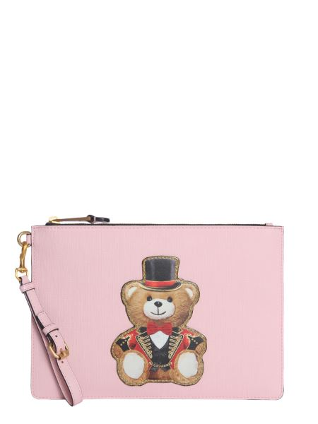 Moschino - Leather Pouch With Patch