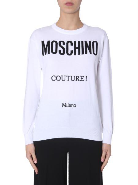 Moschino - Cotton Sweater With Inlay Logo