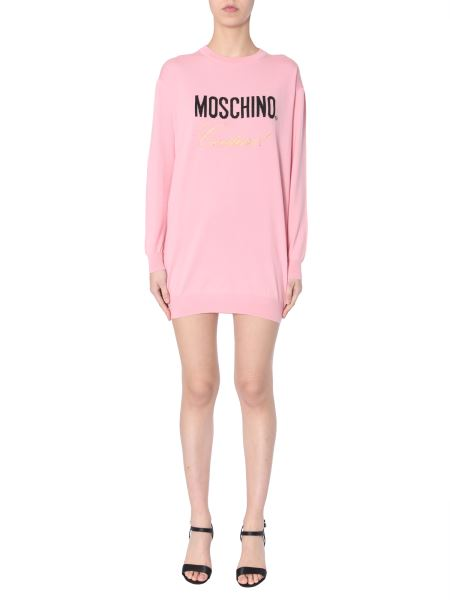 Moschino - Knitted Dress With Inlay Logo