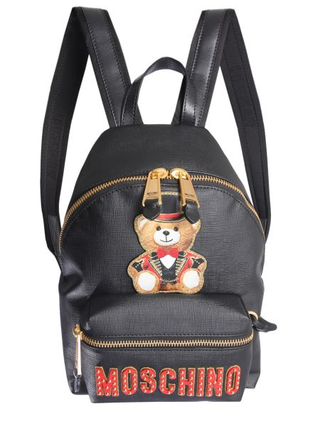 Moschino - Teddy Bear Circus Backpack With Coated Canvas