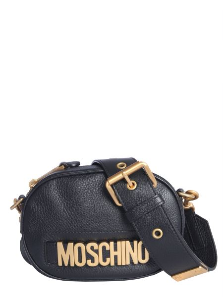 Moschino - Leather Shoulder Bag With Lettering Logo