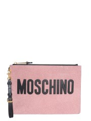 MOSCHINO - POUCH IN PELLE GLITTER