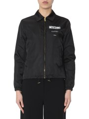MOSCHINO - BOMBER CON STAMPA LOGO