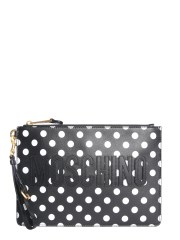 MOSCHINO - CLUTCH IN NAPPA A POIS
