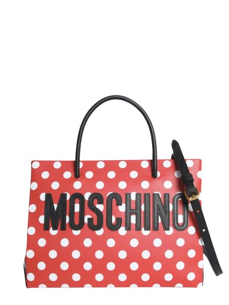Moschino - Polka Dot Shopping Bag With Logo