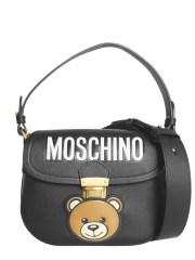 MOSCHINO - BORSA IN PELLE CON TEDDY BEAR