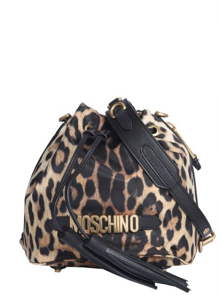 Moschino - Leopard Bucket Bag With Logo