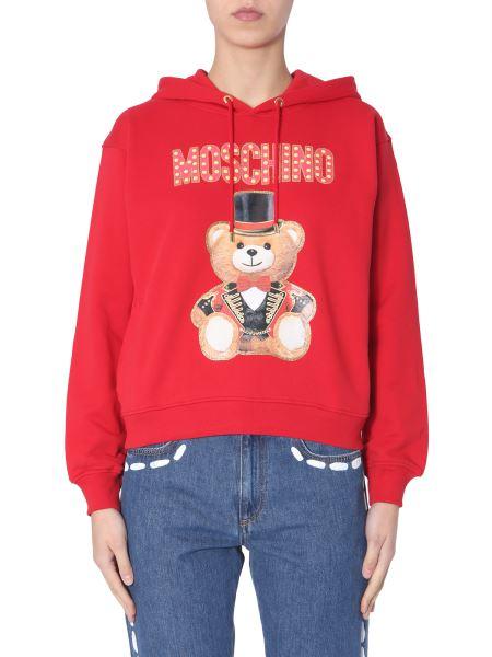 Moschino - Felpa In Cotone Con Cappuccio E Stampa Teddy Bear Circus