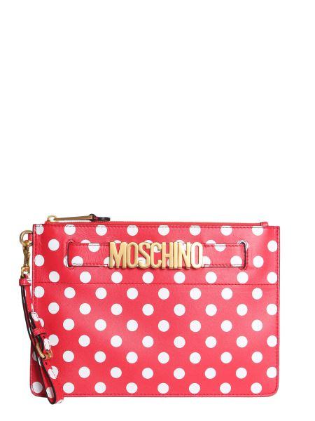 Moschino - Pois Leather Pouch With Logo