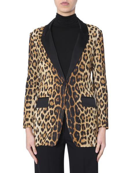 Moschino - Silk Jacket With Leopard Print