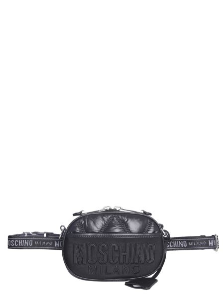 Moschino - Quilted Nylon Pouch With Logo