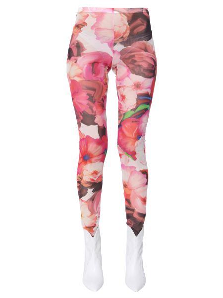 Msgm - Floral-print Tulle Legging