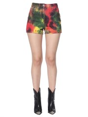 MSGM - SHORT CON STAMPA TIE AND DYE
