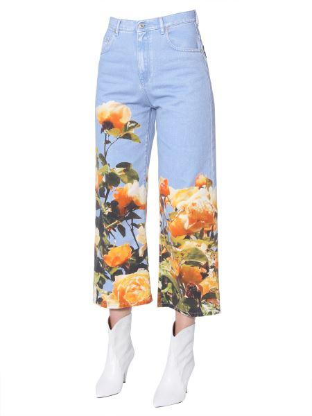 Msgm - Floral-print Deim Jeans