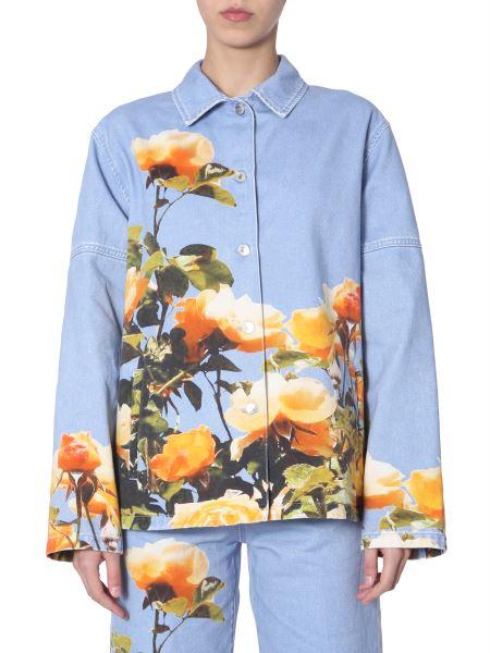 Msgm - Floral-print Denim Jacket