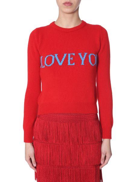 "Alberta Ferretti - ""i Love You""-intarsia Wool And Cashemere-blend Knit"