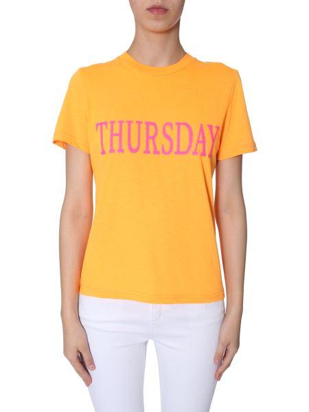 "Alberta Ferretti -  sequin-embellished ""thursday"" Cotton Slim T-shirt"