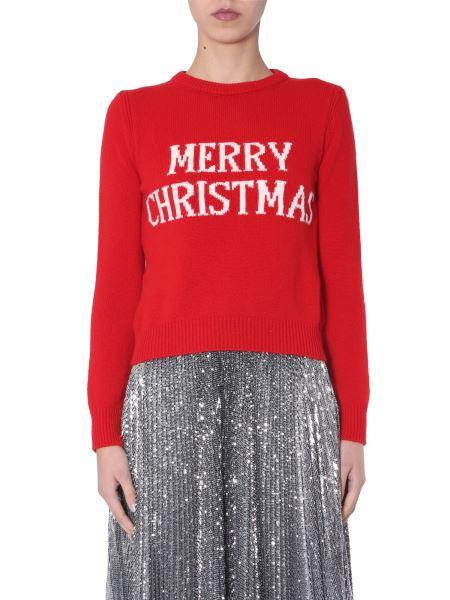"Alberta Ferretti - ""merry Christmas"" Wool And Cashmere Sweater"