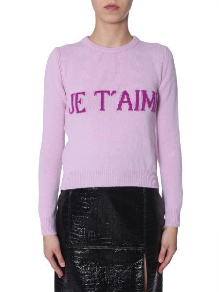 "Alberta Ferretti - ""je T'aime""-intarsia Wool And Cashemere-blend Knit"