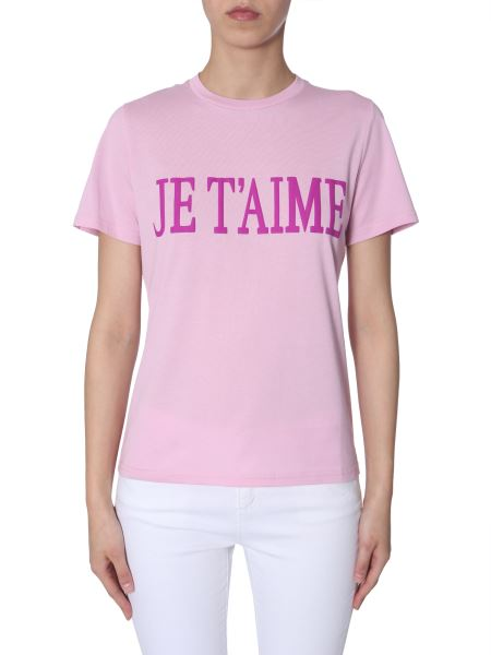 "Alberta Ferretti - ""je T'aime""-print Cotton Slim T-shirt"