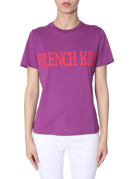 "Alberta Ferretti - ""french Kiss""-print Cotton Slim T-shirt"