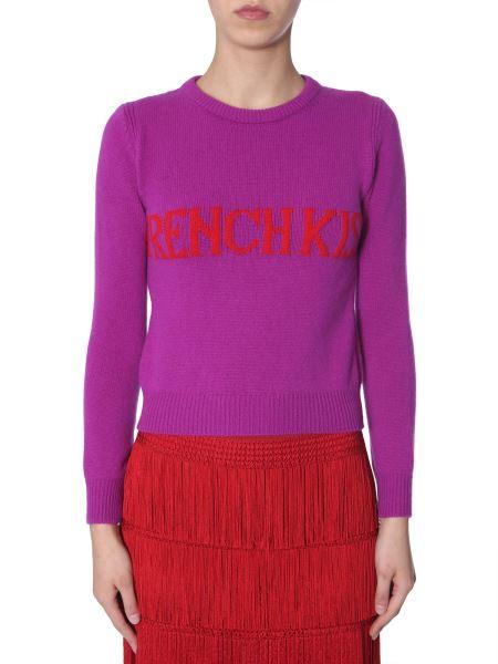"Alberta Ferretti - ""french Kiss""-intarsia Wool And Cashemere-blend Knit"