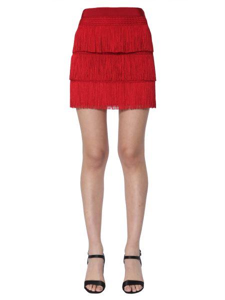 Alberta Ferretti - Crêpe De Chine Short Skirt With Fringes