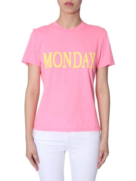 "Alberta Ferretti -  sequin-embellished ""monday"" Cotton Slim T-shirt"