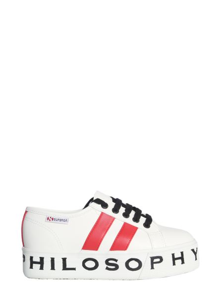 Philosophy Di Lorenzo Serafini - Leather Sneakers With Logo