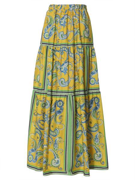 Philosophy Di Lorenzo Serafini - Cotton Poplin Long Skirt In Paisley Print