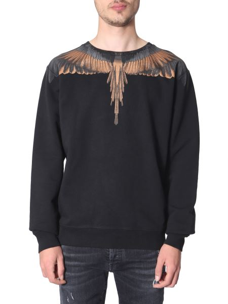 Marcelo Burlon County Of Milan - Crew Neck Printed Sweatshirt