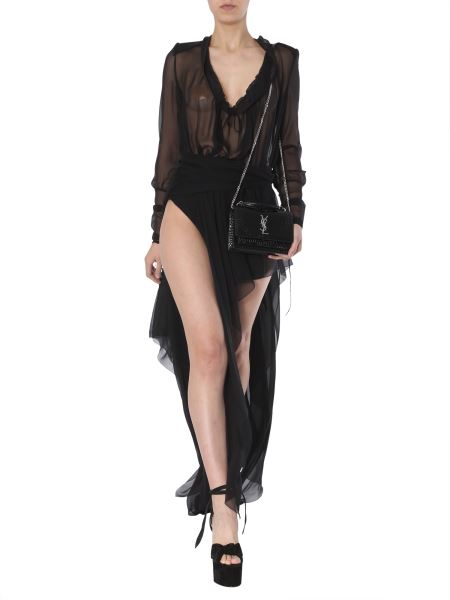 Saint Laurent - Long Silk Chiffon Dress