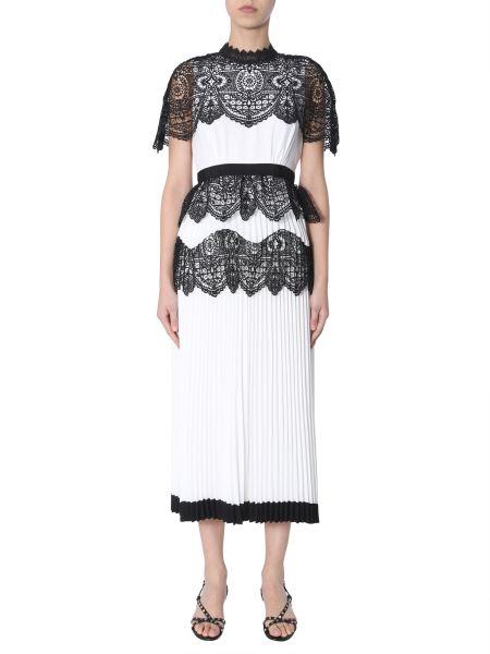 Self-portrait - Midi Dress With Lace Cape