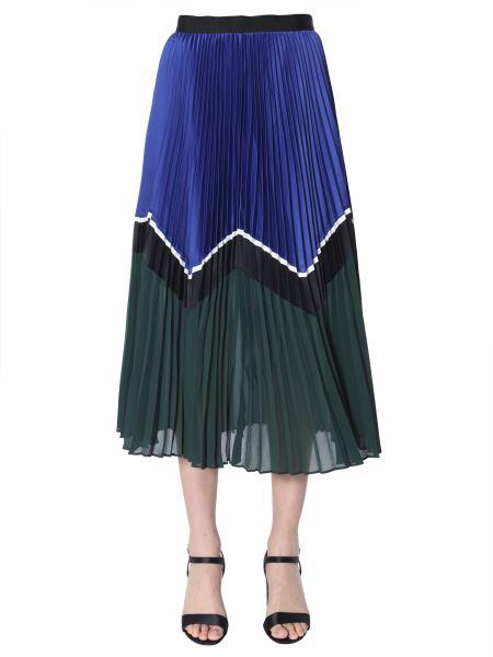 Self-portrait - Colour Block Midi Skirt
