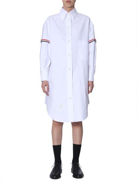 Thom Browne - Striped Cotton-oxford Maxi Shirt