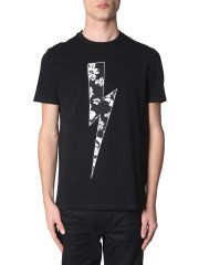 NEIL BARRETT - T-SHIRT CON STAMPA FLOWER BOLT