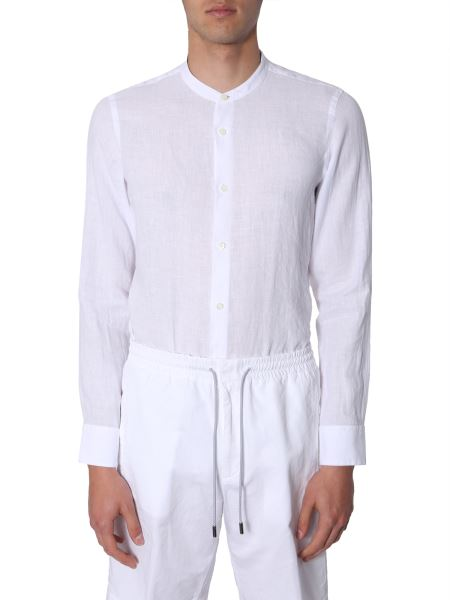 Z Zegna - Mandarin Collar Linen Shirt