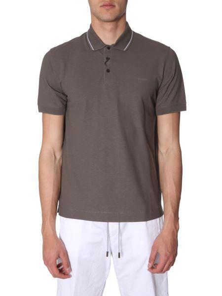 Z Zegna - Contrast Collar Cotton Polo