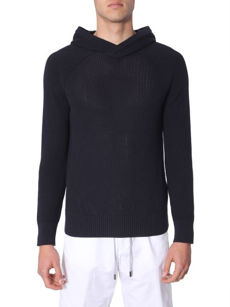 Z Zegna - Hooded Cotton Sweater