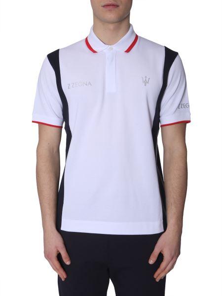 Z Zegna - Cotton Polo T-shirt With Logo Print