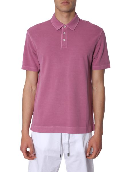 Z Zegna - Cotton-pique Slim Fit Polo Shirt