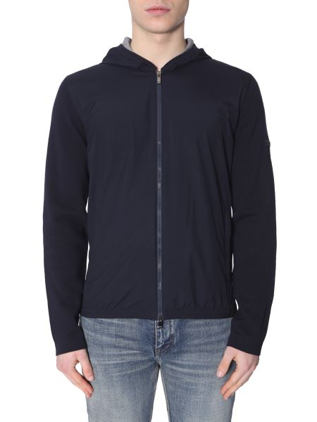 Z Zegna - Hooded Zip-up Cotton Sweatshirt