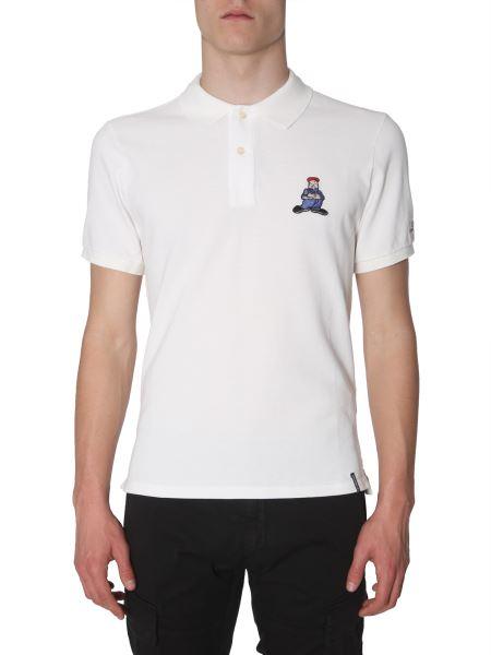 C.p. Company - Comics And Cars-patch Cotton-pique Polo Shirt