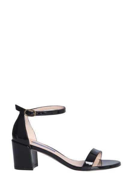 Stuart Weitzman - Simple Shiny Leather Sandals