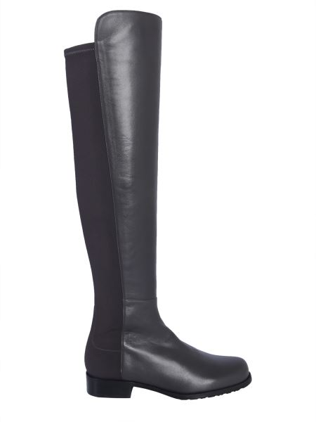Stuart Weitzman - Cuissard 5050 Leather Boots With Elastic Insert