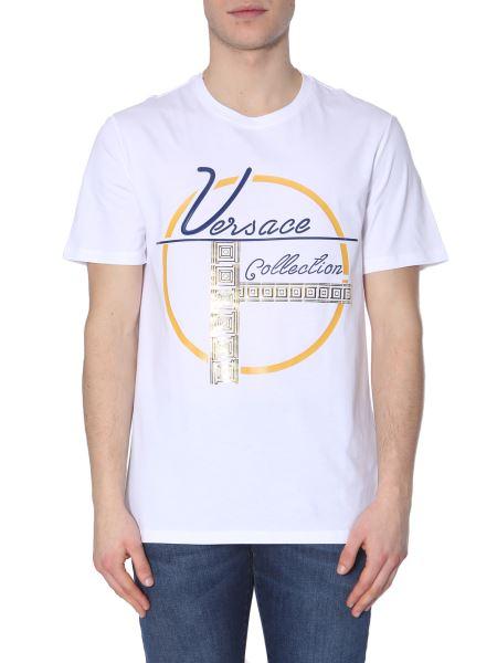 Versace Collection - T-shirt Girocollo In Cotone Con Stampa Logo