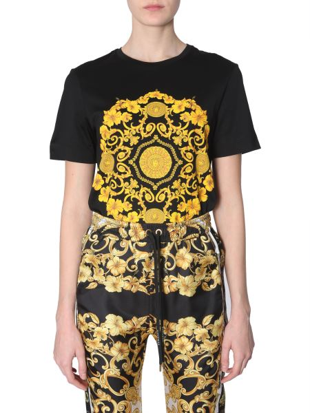 Versace - Baroque Printed Cotton T-shirt